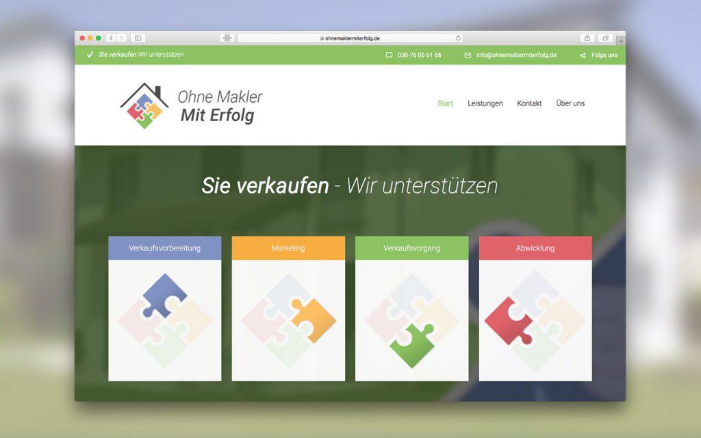 Screenshot der Website Ohne Makler - Mit Erfolg